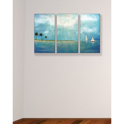 Stupell Industries Azure Breeze Triptych Wall Art