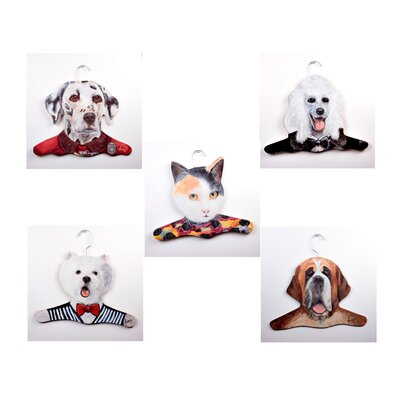 Animal Dalmation / Poodle / Calico Cat / Westie / St. Bernard Clothing Hanger (Set ...