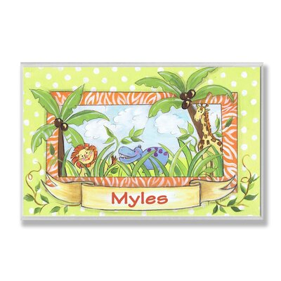 Stupell Industries Kids Room Personalization Zoo Wall Plaque