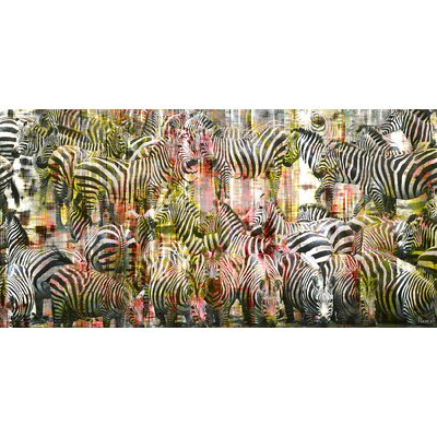 Zebras Painting Print on Canvas