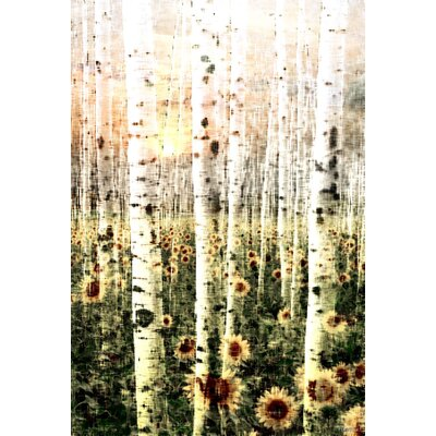 Daisy Forest Painting Print on Canvas