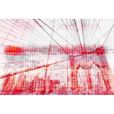 Brooklyn Bridge Painting Print on Canvas
