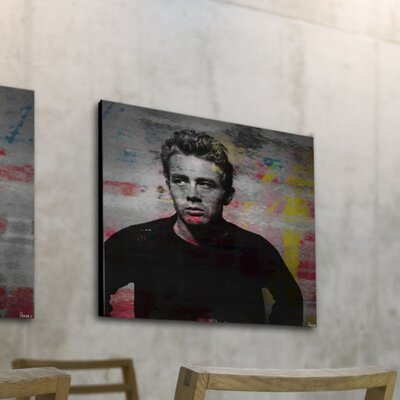 Parvez Taj James Dean - Torn Sweater 1 by Parvez Taj Graphic Art on Canvas