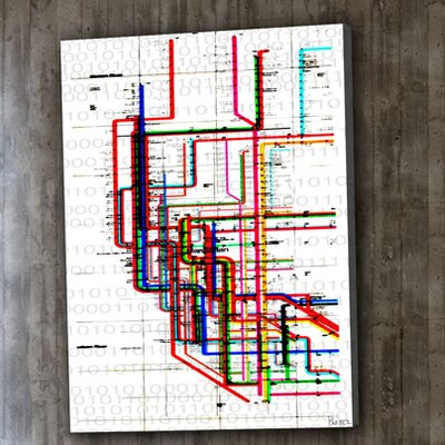 Parvez Taj Subway by Parvez Taj Graphic Art on Canvas
