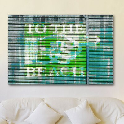 Parvez Taj The Beach by Parvez Taj Graphic Art on Canvas
