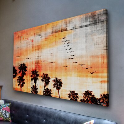 Parvez Taj Ocean Trails by Parvez Taj Graphic Art on Canvas