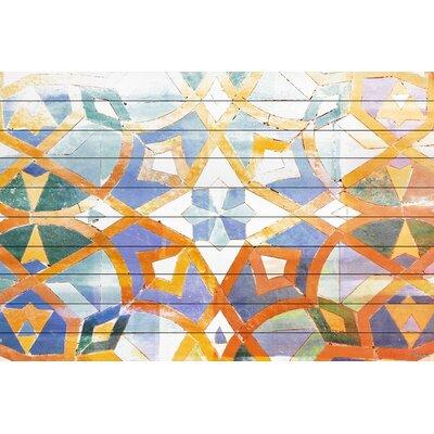 Taero Graphic Art Plaque on White Wood
