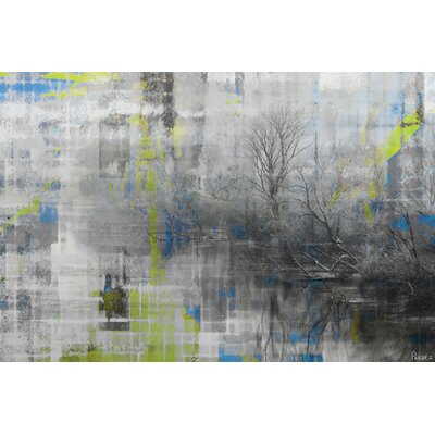 Parvez Taj Misty Lake by Parvez Taj Graphic Art on Canvas