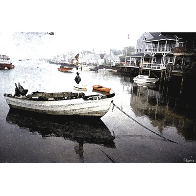 Still Dock by Parvez Taj Graphic Art on Canvas
