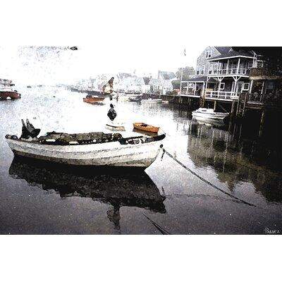 Still Dock by Parvez Taj Graphic Art on Canvas
