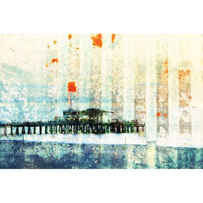 Parvez Taj Santa Monica Pier by Parvez Taj Graphic Art on Canvas