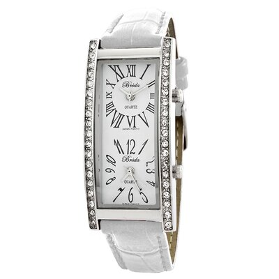 Breda Women's Nicola Dual Time Zone Classic Watch in White