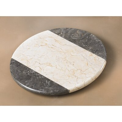 Creative Home The Byzantine Two Tone Marble Round Board in Charcoal / Champagne