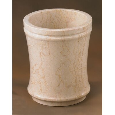 Champagne Marble Fluted Waste Basket