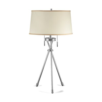 Lighting Enterprises Tripod Table Lamp with Hardback Fold Shade