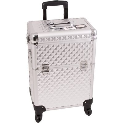 Sunrise Cases Diamond Pattern Professional Rolling Cosmetic Makeup Case