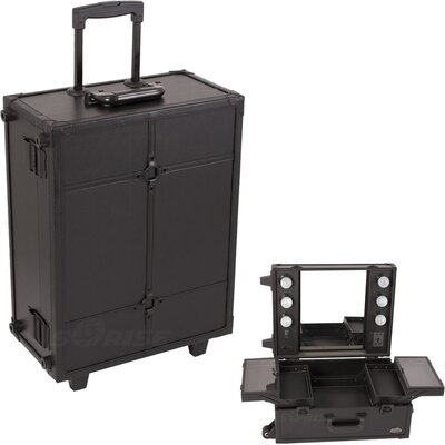 Sunrise Cases Professional Rolling Studio Makeup Train Case