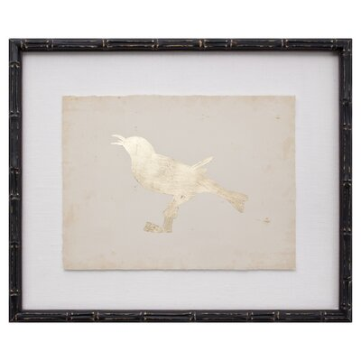 <strong>Mirror Image Home</strong> Gold Leaf Bird VIII Art