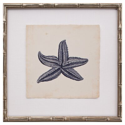 Mirror Image Home Mini Indigo Starfish IV Art