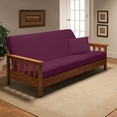Madison Home Stretch Jersey Full Futon Cover in Purple