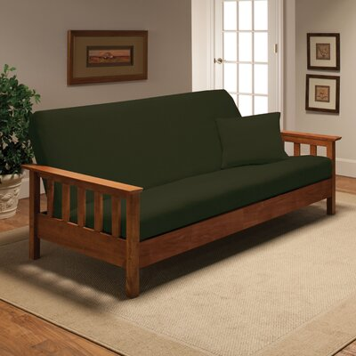 Madison Home Stretch Jersey Full Futon Cover in Forest