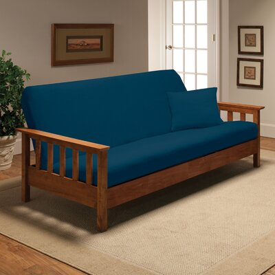 Madison Home Stretch Jersey Full Futon Cover in Cobalt Blue