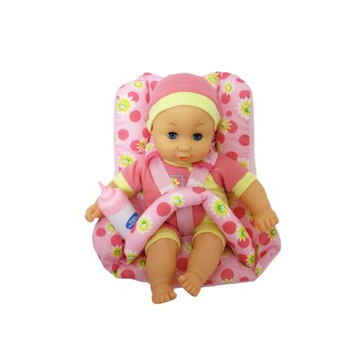 "Kiddy Lane 12"" My Little Baby Eleanor and Car Seat"