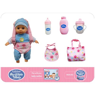 "Kiddy Lane 10.5"" My Little Baby Lucy and Carrier Set"