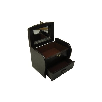 Keystone Intertrade Inc. Antique Jewelry Box in Distressed Antique Ebony