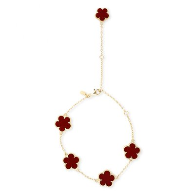 CZ Collections Flower Bracelet or Anklet