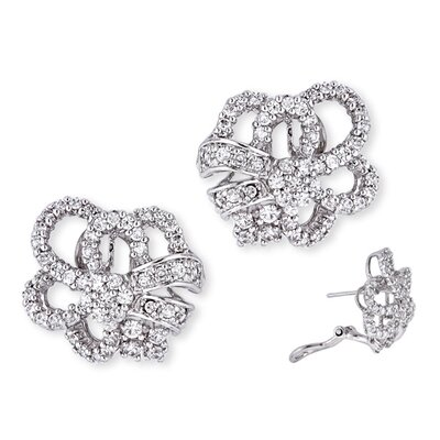 Diamond Open Designed Bridal Earrings