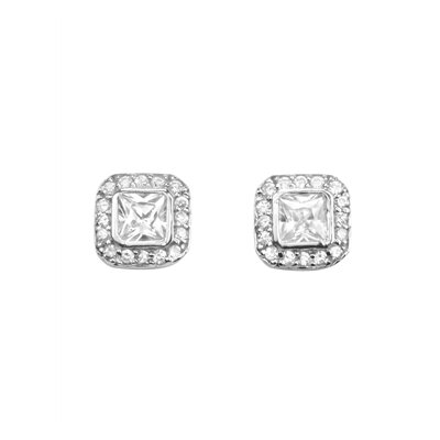 Square Vintage Stud Earrings