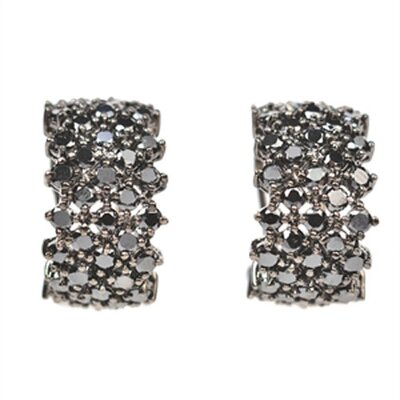 Black Rhodium Plated Earrings