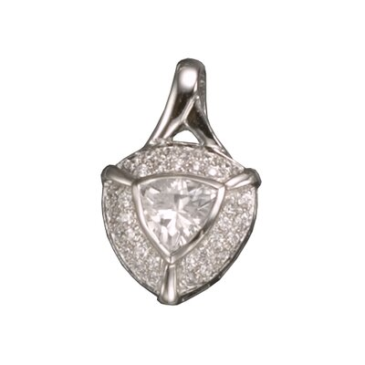 Triangle Rhodium Plated Pendant
