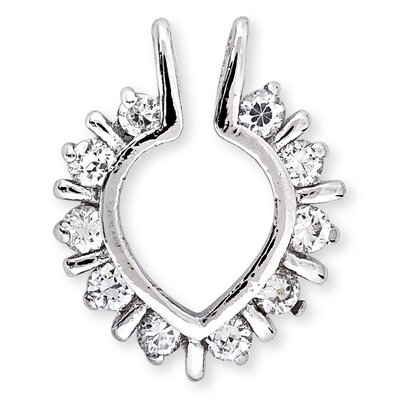 Rozzato Round Diamond Illusion Heart Outline Pendant