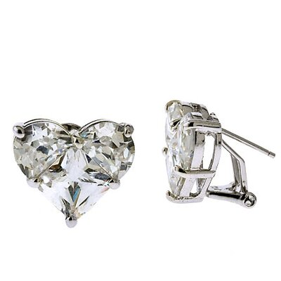 CZ Collections Designer Inspired Cubic Zirconia Diamond Earrings
