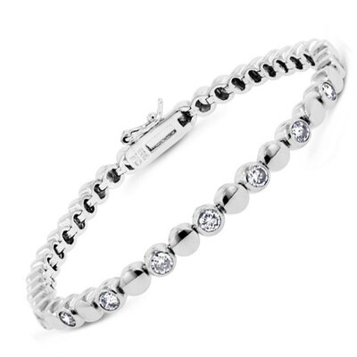 CZ Collections Ball Cubic Zirconia Bracelet