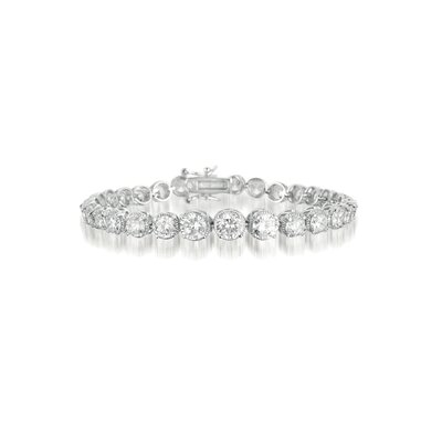 CZ Collections Graduated Cubic Zirconia Bracelet