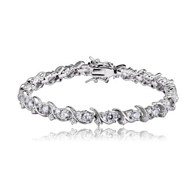 CZ Collections Round Curve Cubic Zirconia 4mm Bracelet