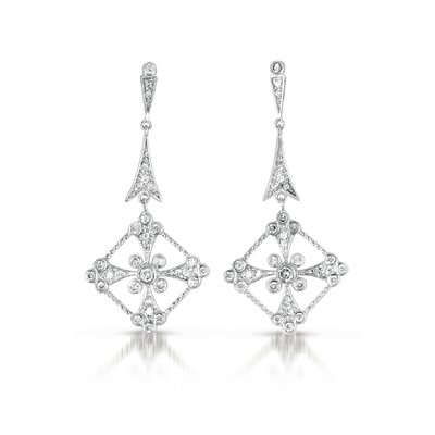 Cubic Zirconia Diamond Dangle Earrings