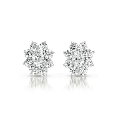 Rozzato Flower Cubic Zirconia Earrings