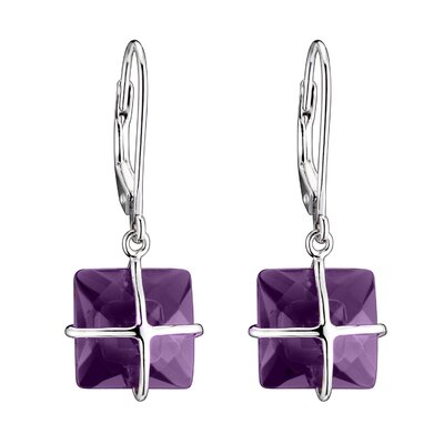 Rozzato Cubic Zirconia Sterling Silver Euro Wire Earrings