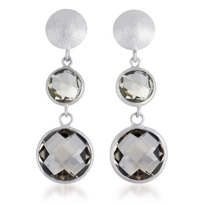 CZ Collections Gem Drop Matte Earrings