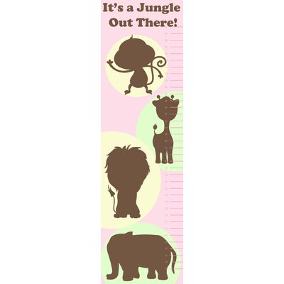 Secretly Designed Animal Growth Chart Wall Decal