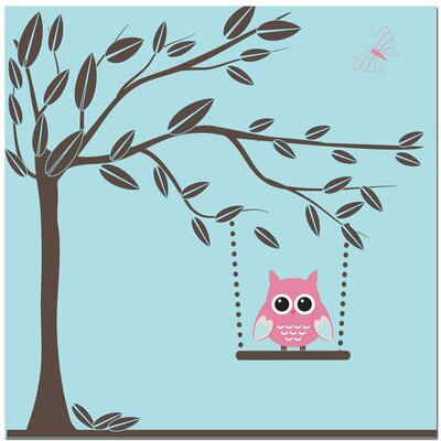 Secretly Designed Swinging Owl Art Print