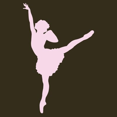 Secretly Designed Ballet Dancer #2 Wall Decal