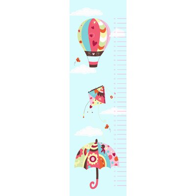 Secretly Designed In the Sky Growth Chart Wall Decal