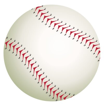 Single Baseball Wall Decal