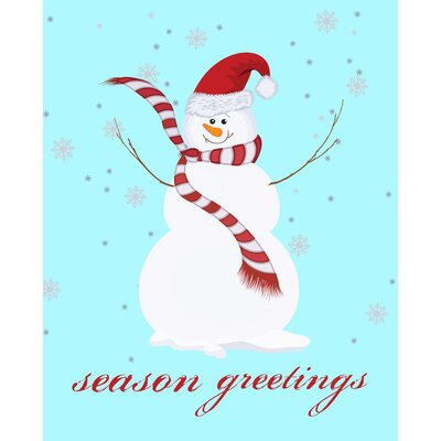Secretly Designed Snowman Season Greetings Art Print