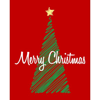 Secretly Designed Christmas Tree Art Print